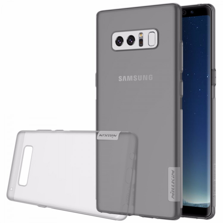 Nillkin Nature silikonové pouzdro pro Samsung Galaxy Note 8, Grey