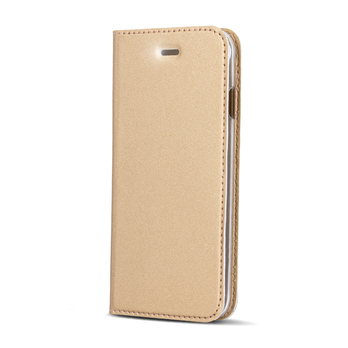 Smart Platinum pouzdro flip Samsung Galaxy J3 2016 gold
