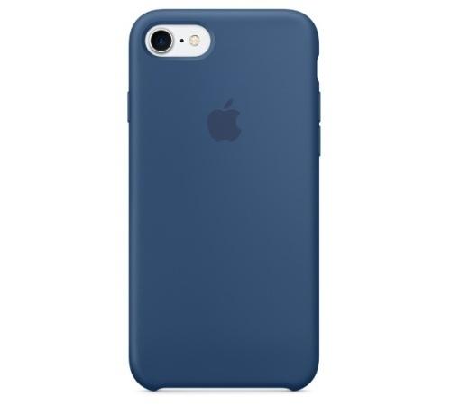 Silikonový ochranný kryt Apple pro iPhone 7, mořsky modrá