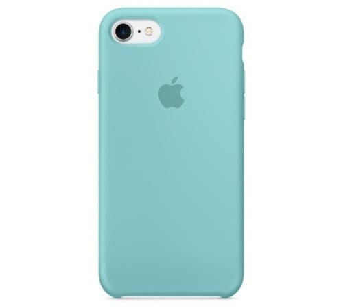 Silikonový ochranný kryt Apple pro iPhone 7, zeleno-modrá
