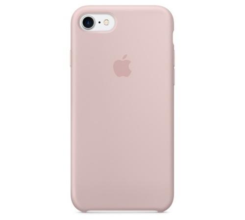 Silikonový ochranný kryt Apple pro iPhone 7, pískově růžová