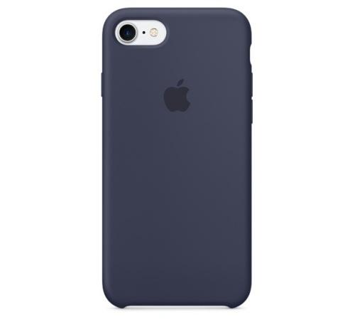 Silikonový ochranný kryt Apple pro iPhone 7, půlnoční modrá