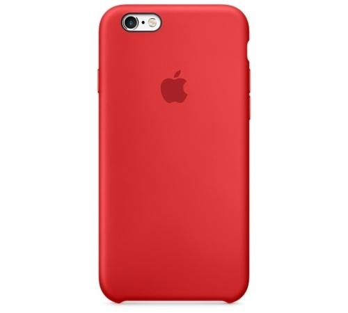 Silikonový ochranný kryt Apple pro iPhone 6, 6S, červená