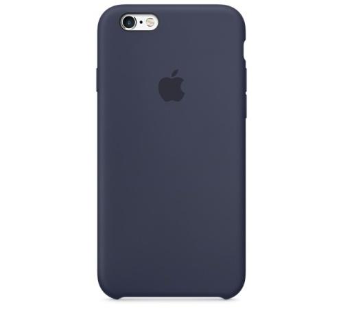 Silikonový ochranný kryt Apple pro iPhone 6, 6S, půlnoční modrá