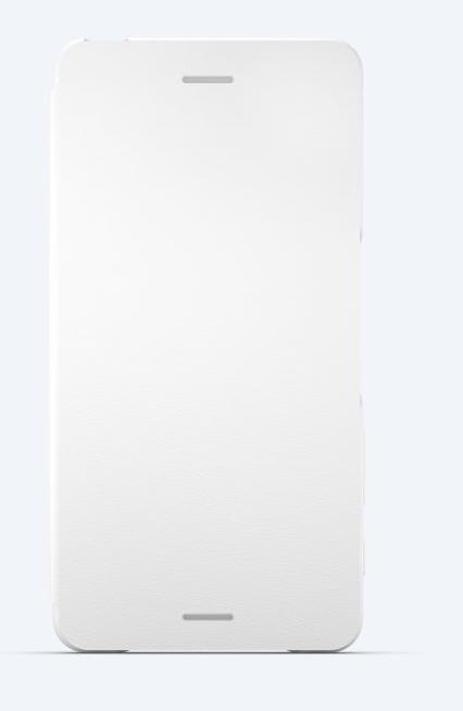 Sony Style Cover Flip SCR58 Sony Xperia X Performance white + DOPRAVA ZDARMA