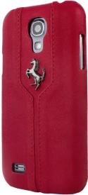 Ferrari Monte Carlo Zadní Kožený Kryt pro Galaxy S4 mini Red FEMTHCS4MRE