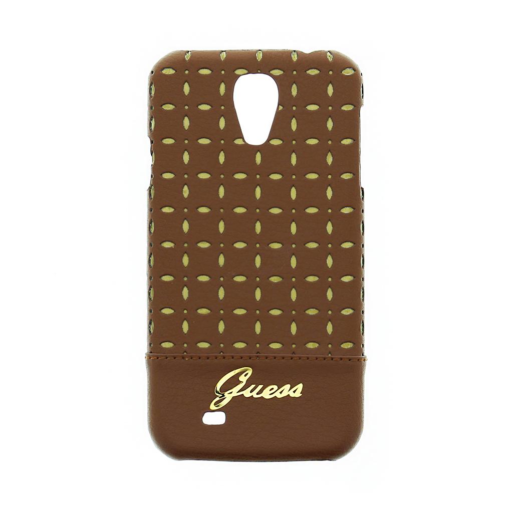 GUHCS4PEC Guess Gianina zadní kryt Samsung S4 Cognac