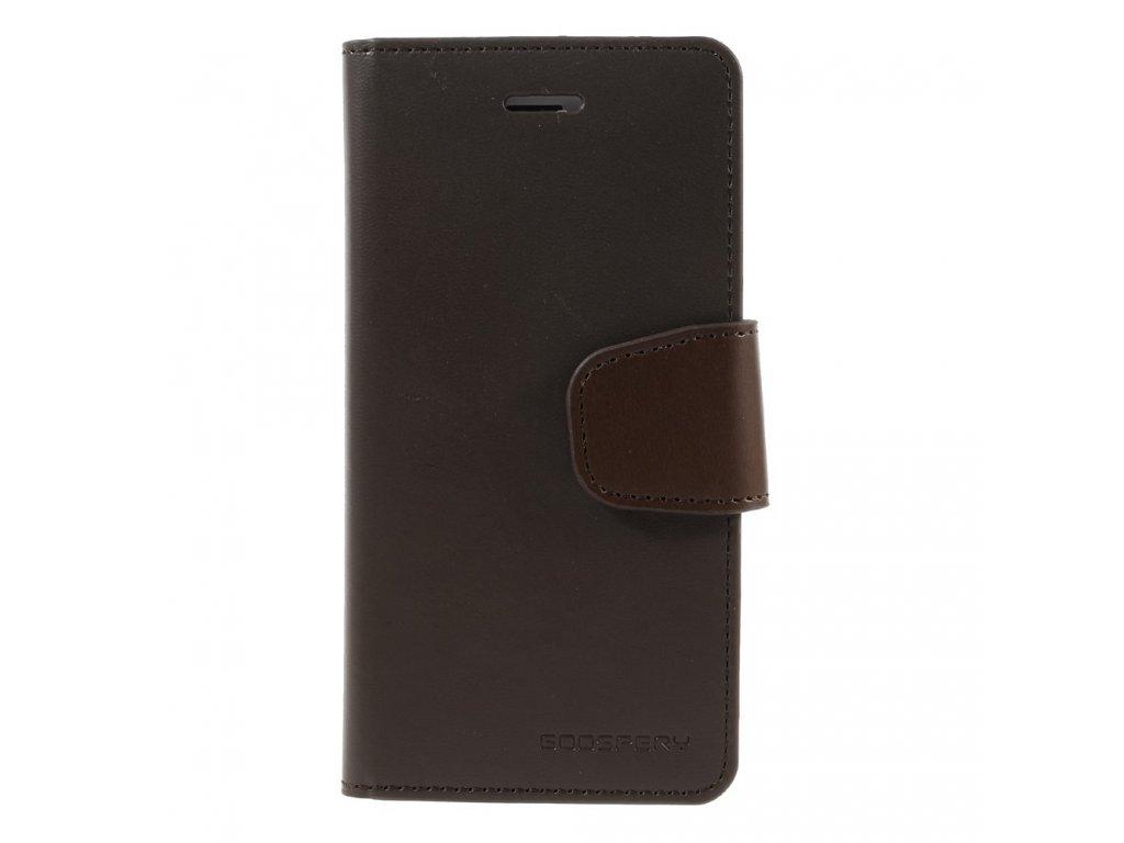 MERCURY SONATA pouzdro flip APPLE iPhone 5/5s/SE brown