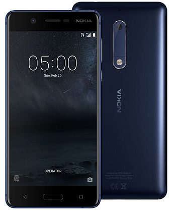 Nokia 5 Blue SingleSIMZDARMA Protiskluzová podložka pro mobilní telefony v hodnotě 199 Kč. + DOPRAVA ZDARMA