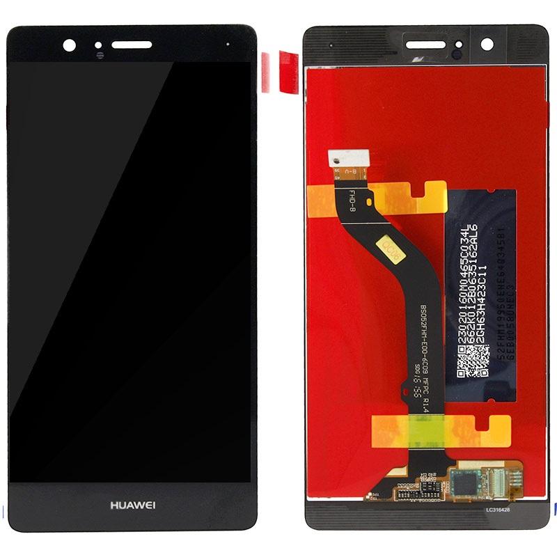 LCD displej + dotyk + přední kryt Huawei P9 Lite Black (Service Pack)