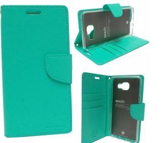 Mercury Bravo Diary pouzdro flip Apple iPhone 5s/SE mint