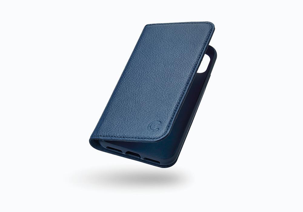 CYGNETT Leather Wallet pouzdro flip Apple iPhone X navy
