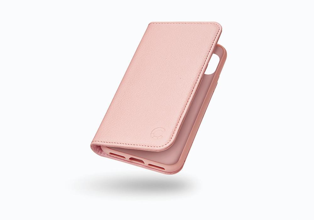 CYGNETT Leather Wallet pouzdro flip Apple iPhone X pink