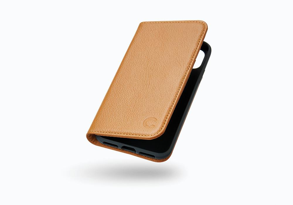 CYGNETT Leather Wallet pouzdro flip Apple iPhone X tan