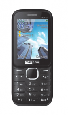 Mobilní telefon Maxcom MM143 Dual SIM Black