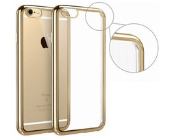 Pouzdro ELECTRO JELLY Apple iPhone 7 transparent zlaté