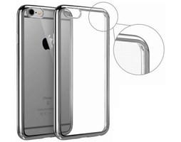 Pouzdro ELECTRO JELLY Apple iPhone 7 transparent šedé