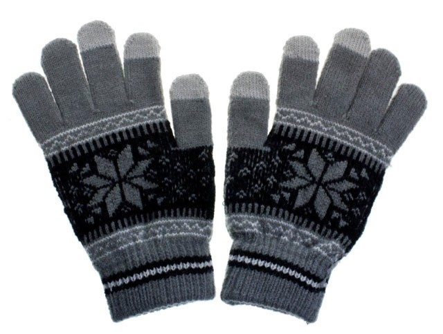 Pánské rukavice NORDIC pro dotykové displeje grey