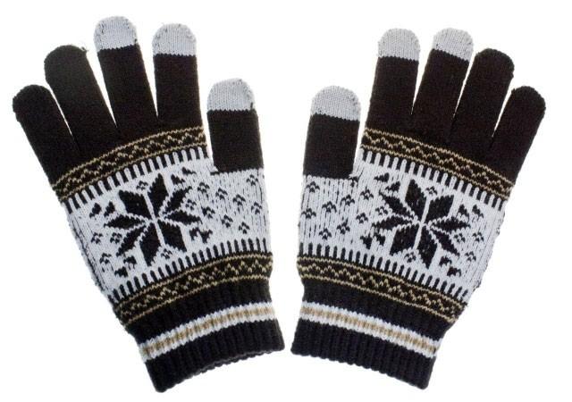 Pánské rukavice NORDIC pro dotykové displeje brown