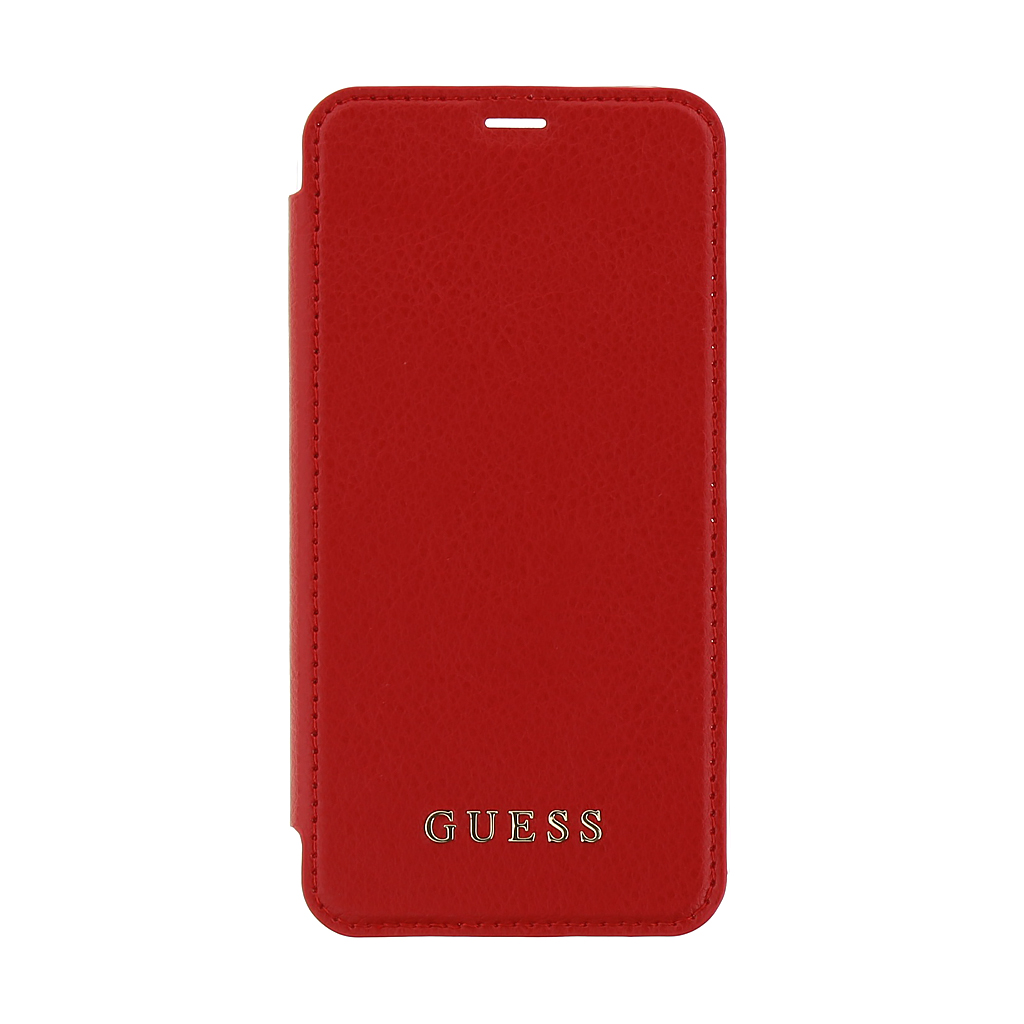 Guess Iridescent Book GUFLBKPXIGLTRE pouzdro flip Apple iPhone X red