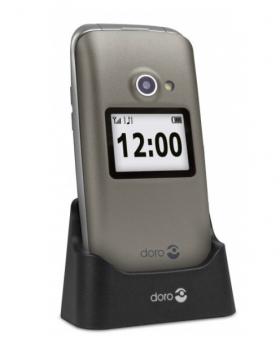 Mobilní telefon Doro 2424 champagne / silver