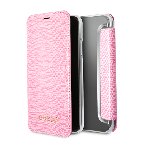 Guess Python Book GUFLBKPXPYLPI pouzdro flip Apple iPhone X pink