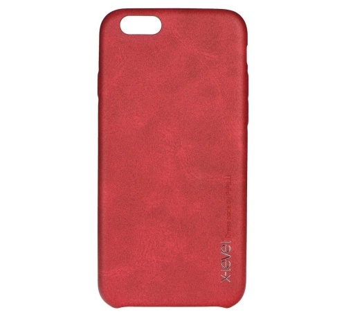 Kryt ochranný XLEVEL Vintage pro Samsung Galaxy S7 edge, červená