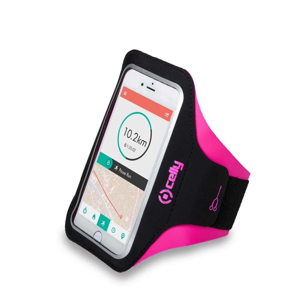 """CELLY ARMBAND Sportovní neoprénové pouzdro vel. XL do 5"""" pink"""