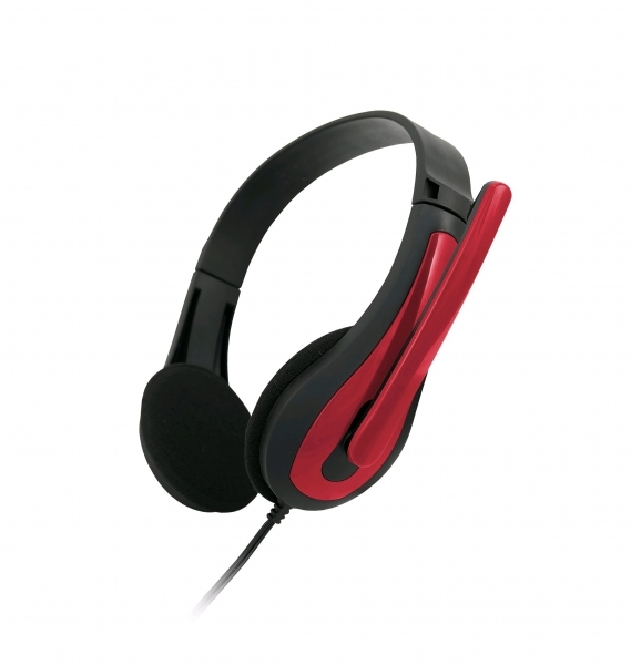 C-TECH Sluchátka MHS-01 black/red