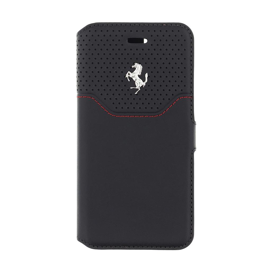 Ferrari Lusso FEHOFLBKP7BKR pouzdro flip Apple iPhone 7/8 black/silver