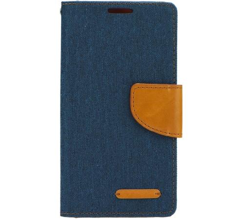 Canvas Diary flipové pouzdro Sony Xperia T3 navy