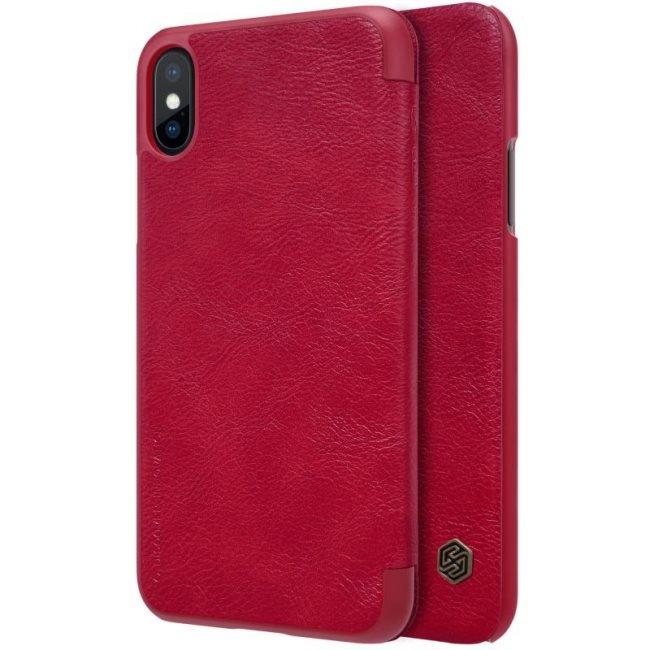 Nillkin Qin Book flipové pouzdro Apple iPhone X red