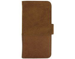 HOLDIT Wallet flipové pouzdro Apple iPhone 6s/7/8 brown leather/suede