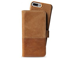HOLDIT Wallet magnet pouzdro flip Apple iPhone 6s+/7+/8+ brown leather/suede