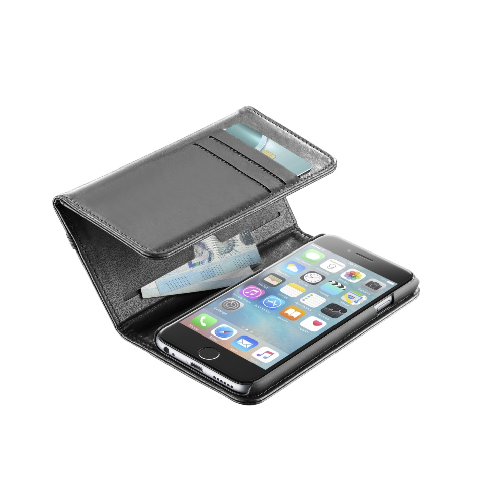 CELLULARLINE WALLET Flipové pouzdro Apple iPhone 6/6s black