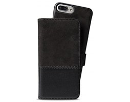 HOLDIT Wallet magnet pouzdro flip Apple iPhone 6s+/7+/8+ black leather/suede