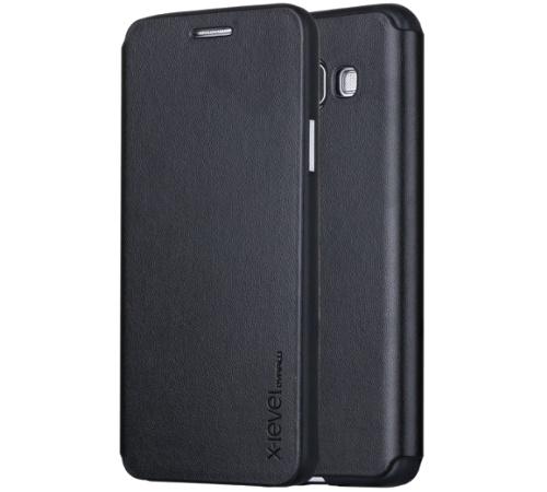 XLEVEL FIB Color pouzdro flip Apple iPhone 5/5s/SE black