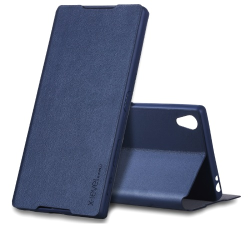 XLEVEL FIB Color pouzdro flip Sony Xperia XZ Premium navy