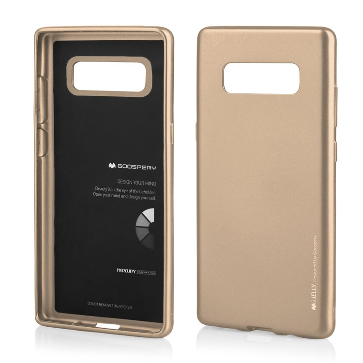 Pouzdro Mercury Jelly Case pro Samsung Galaxy Note 8 zlaté