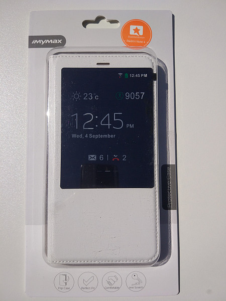 iMYMAX pouzdro flip Xiaomi Redmi Note 4 white