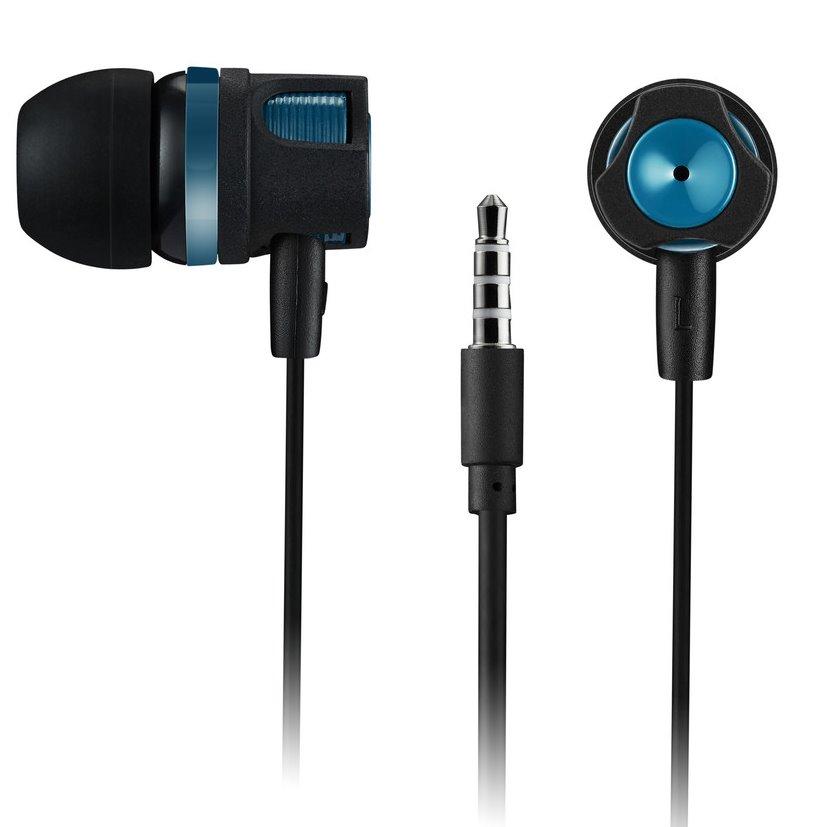 CANYON stereo sluchátka špuntová black/green