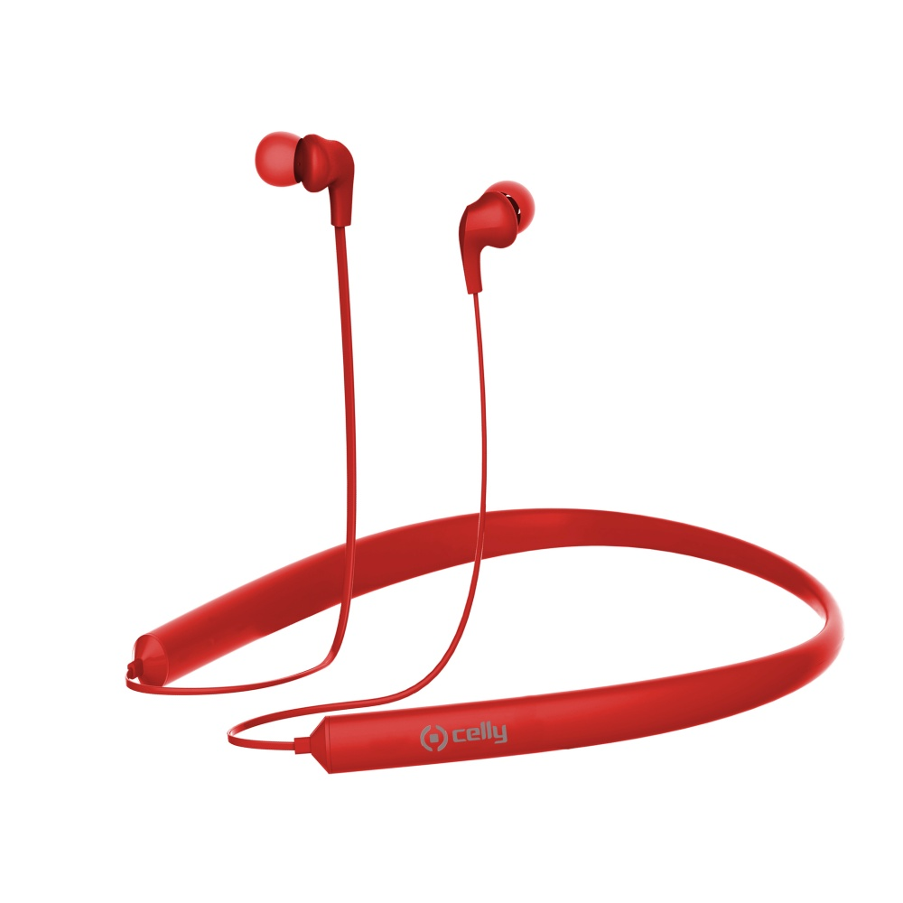 Bluetooth stereo sluchátka CELLY NECK multipoint red