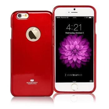 Silikonové pouzdro MERCURY JELLY CASE HOLE pro APPLE IPHONE 6 PLUS/6S PLUS ČERVENÉ