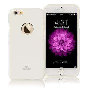 """Silikonové pouzdro MERCURY JELLY CASE HOLE pro Apple IPHONE 6/6S (4,7"""") BÍLÉ"""