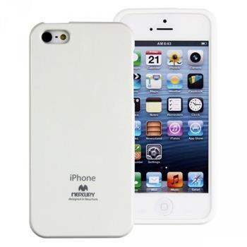 Pouzdro Mercury Jelly Case pro Apple iPhone 5/5S/5SE bílé