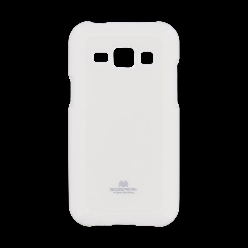 Pouzdro Mercury Jelly Case pro Samsung Galaxy J1 2016 bílé