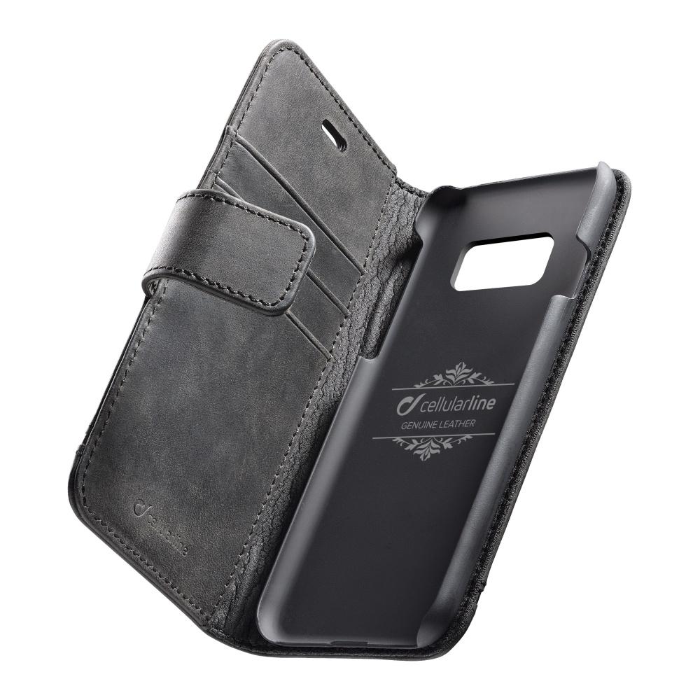 Cellularline Supreme pouzdro flip Samsung Galaxy S8 black