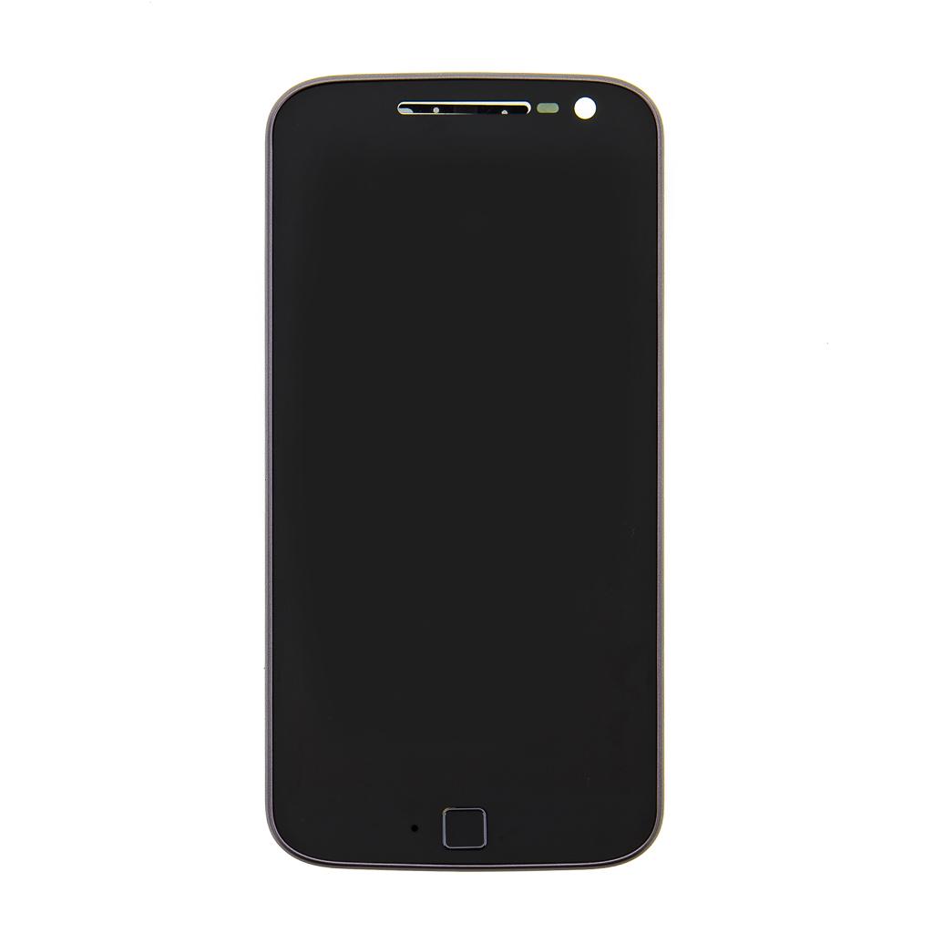 LCD + dotyk + přední kryt pro Lenovo Moto G4 Plus black