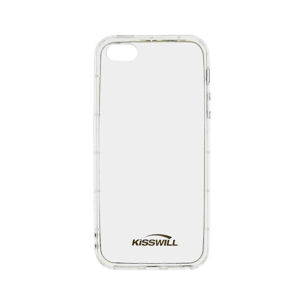 Kisswill Air silikonové pouzdro pro Apple iPhone 5/5S/SE, transparentní