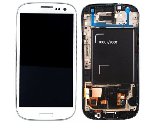 LCD + dotyková deska +př. kryt Samsung Galaxy S III Neo white
